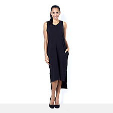 Anybody Loungewear Petite Rib Trim Maxi Tank Dress