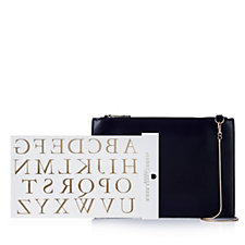 Johnny Loves Rosie Monogrammed Clutch Bag with Chain