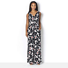 Kim & Co Venechia Iris Flowers Sleeveless Jumpsuit Regular