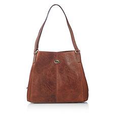 Tignanello Embossed Vintage Leather Shopper Bag & RFID Protection