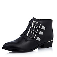 Bronx Buckle Leather Ankle Boot