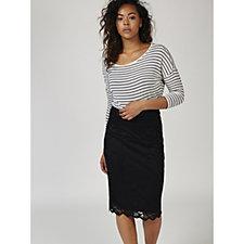 Grace Lace Skirt with Scalloped Hem