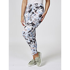 Mr Max Scuba Print Slim Leg Trousers with Contour Waistband