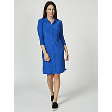 Attitudes by Renee 3/4 Sleeve Shirt Dress Regular