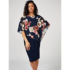 Grace Floral Chiffon Overlay Dress