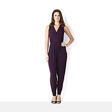 Kim & Co Brazil Knit Sleeveless Crossover Jumpsuit