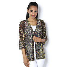 159309 - Paisley Print Lace Cardigan by Michele Hope