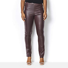Kim & Co Croco Pleather Slim Leg Trousers Regular Length