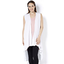Join Clothes Sleeveless Waterfall Front Jacket