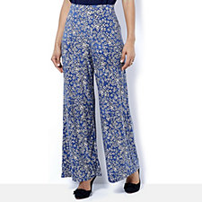 Kim & Co Brushed Venechia Printed Palazzo Regular Trousers