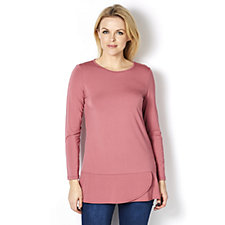 Mr Max Soft Knit Layered Hem Tunic