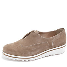 Manas Slip On Suede Pumps