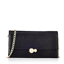 Frank Usher Leather Clutch Bag With Removable Strap
