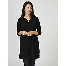 Attitudes by Renee 3/4 Sleeve Shirt Dress Petite