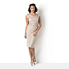 Ronni Nicole 'O So Slim' Soft Sparkle Faux Wrap Dress