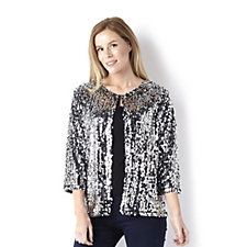Sequin Shine Crop Jacket by Michele Hope