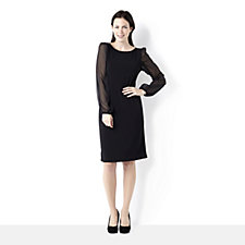 Tiana B Sheer Sleeve Shift Dress