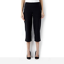 Women with Control Crop Trouser with Flat Front Waist
