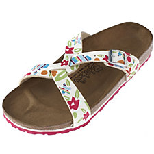 Birki's by Birkenstock Sylt Multi Flowers Soft Base Sandal
