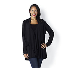 Jersey Layered Drape Cardigan by Michele Hope