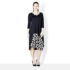 Yong Kim Jersey Dress with Print Inserts