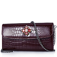 Butler & Wilson Leather Crystal Detail Purse