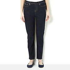 Diane Gilman Ramie Blend 5 Pocket Pull On Skinny Jean