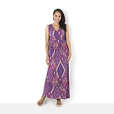Printed Maxi Dress by Nina Leonard