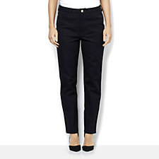 C. Wonder Bi-Stretch Twill Slim Leg Ankle Length Trousers