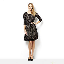 162210 - Fit & Flare Lace Dress by Nina Leonard