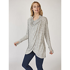Anybody Drape Front Button Detail Knit Cardigan