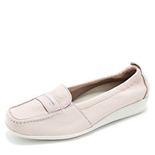 Vitaform Leather Loafer with Stitch Detail