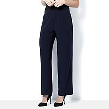 Regular Straight Leg Jersey Trouser by Nina Leonard