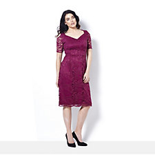 Grace Lace Cold Shoulder Dress with Sweetheart Neck