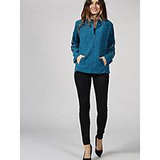 Bob Mackie Zip Front Embroidered Sleeve Jacket
