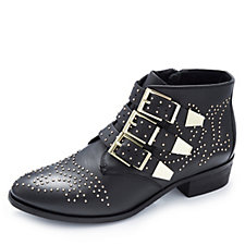 Bronx Leather Studded Ankle Boot