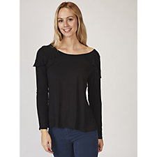 Antthony Designs Long Sleeve Ruffle Detail Top