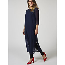 Grace Longline Chiffon Tunic with Side Split Detail