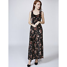 Kim & Co Velvet Floral Sleeveless Maxi Dress