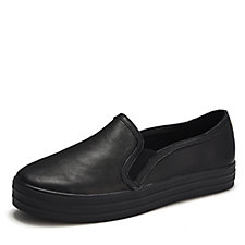 Skechers Street Double Up Sleek Street Leather Slip On Trainer