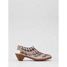108211 - Rieker Interweave Leather Low Heel Shoe