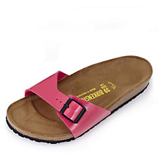 Birkenstock Madrid Patent Sandal Wide Fit