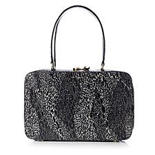 Lulu Guinness Large Jenni Snake Doodle Leather Handbag