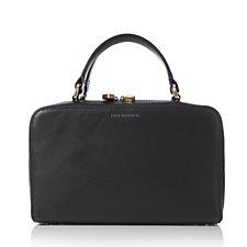 Lulu Guinness Connie Leather Basket Weave Handbag