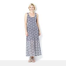 Ronni Nicole Sleeveless Stretch Printed Burnout Lace Maxi Dress