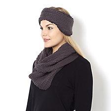 Muk Luks Knit Headband & Infinity Scarf Set