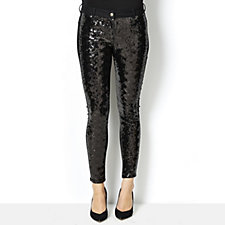 Biba Sequin Front Panel Skinny Jeans