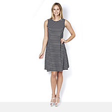 Tiana B Striped Textured Knit Dress