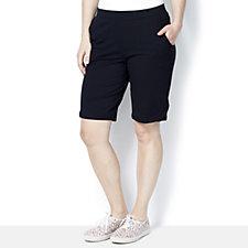 Denim & Co. Stitch Detail Bermuda Shorts