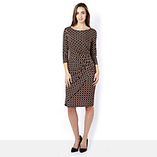 Eve 3/4 Sleeve Teardrop Print Dress by Onjenu London